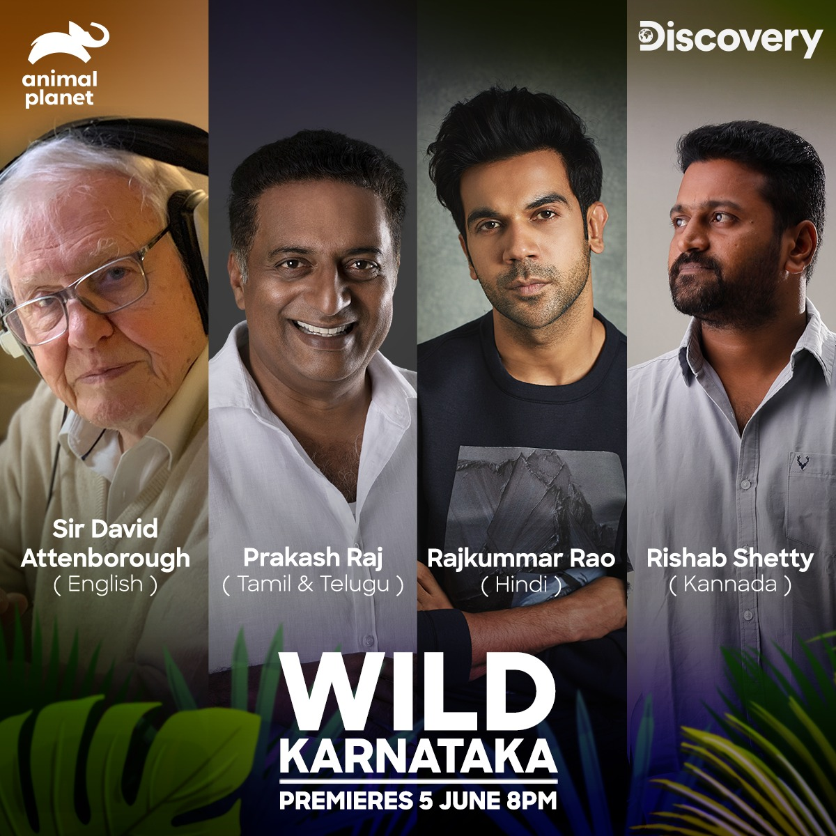 Discovery Network brings together iconic stars to celebrate India's wildlife with the premiere of 'Wild Karnataka' on World Environment Day