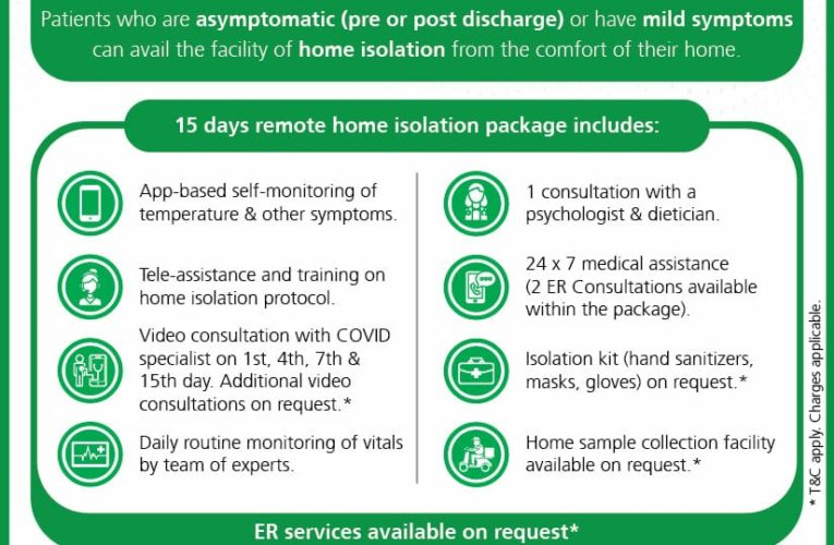 Fortis Anandapur launches Home Isolation Support Programme for COVID-19 positive patient
