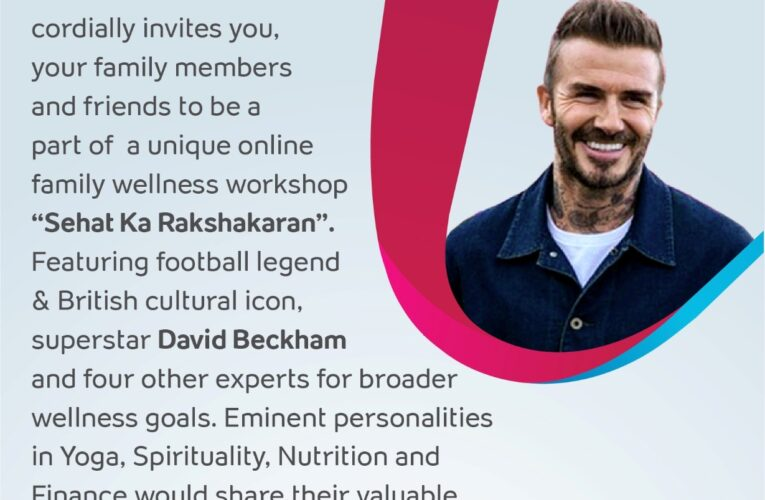 Tata AIA Life Insurance hosts virtual Health and Wellness event featuring global icon, David Beckham