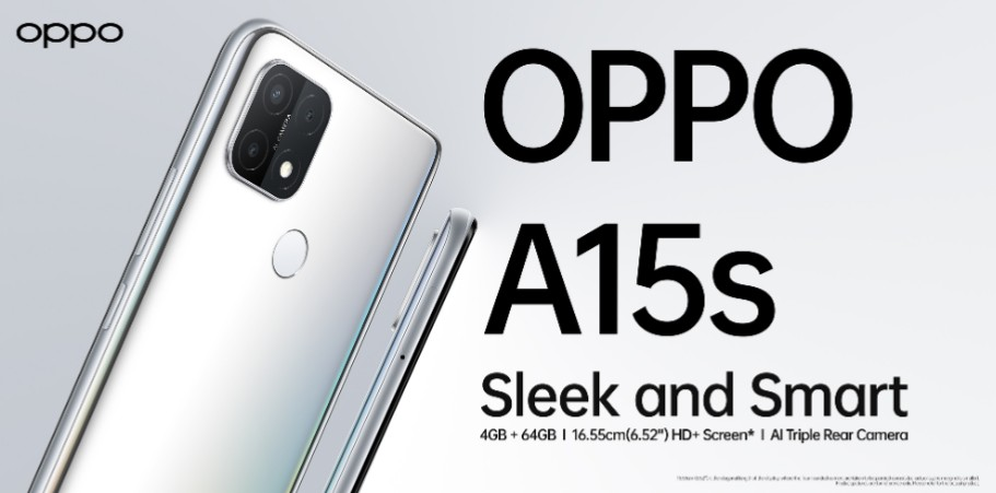 OPPO launches A15s in a mighty storage of 4+64GB a 16.55cm (6.52-inch) large screen and AI triple camera