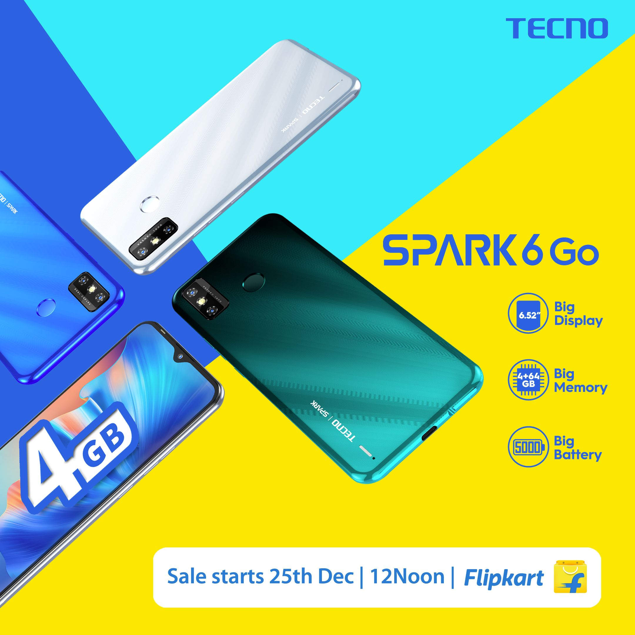 SPARK 6 Go: TECNO affirms leadership in sub-10k market with its most affordable 4GB device
