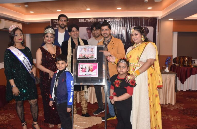 Director of Pink Roses Entertainment Mrs. Asia winner-model-actress Hina Kauser launched Bollywood Calendar 2021