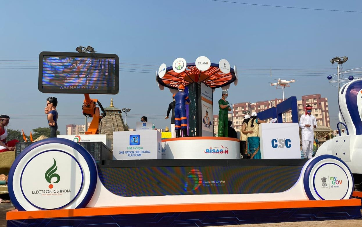 Ministry of Electronics and Information Technology's Republic Day Tableau 2021 conceptualised & designed by ITW Playworx