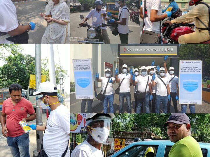 CK Birla Hospitals initiates # Mask up Kolkata mask