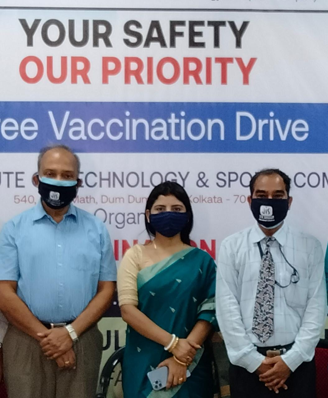 On-site free mass vaccination drive organized by Sur Institute of Technology