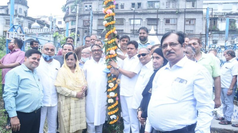 Puja Curtains go up with KHUTI PUJA at Mohammad Ali Park