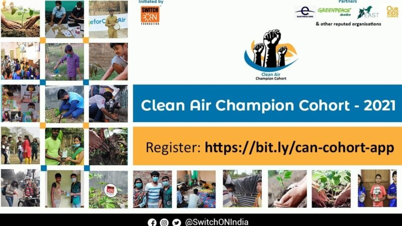 Webinar on Clean Air Champions Cohort to be held on September 7